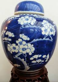 stunning large chinese blue u0026 white prunus blossom ginger jar with