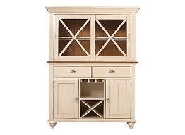 sagamore 2 pc china cabinet w lighting and wine storage bisque