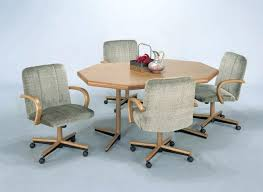 kitchen table with caster chairs kitchen chairs on rollers thegoodcheer co