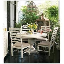 Round Pedestal Dining Tables Paula Deen Home Linen Wood Round Pedestal Dining Table 21h04