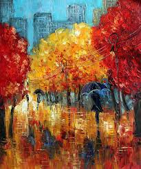 Paintings For Living Room Abstract Oil Canvas Painting For Living Room Wall Decor Autumn