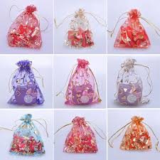 drawstring gift bags 100pcs mix color transparent organza candy drawstring bag jewelry