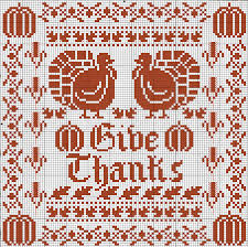 free thanksgiving cross stitch chart by lois winston for dmc