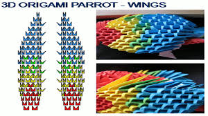 3d origami beginner tutorial 3d origami parrot tutorial youtube