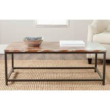 Barn Board Coffee Table Safavieh Alec Weathered Barnwood Coffee Table Amh6545f The Home