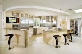 interiornity source of interior design ideas inspirational contemporary kitchen design occupying wide space area having stylish marble counter top and stainless steel appliances