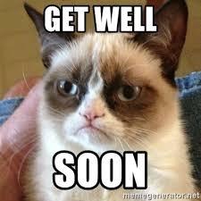 Get Better Soon Meme - get well soon grumpy cat meme generator