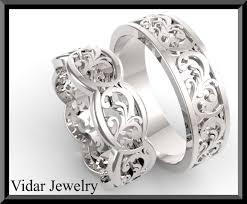 his and hers white gold wedding rings wedding rings set for him and white gold and diamond lovely