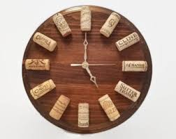 themed clock cork clock etsy