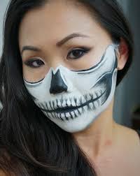 skeleton halloween make up halloween doll makeup eltoria happy halloween day 15 half face