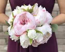 Wedding Flowers Peonies Blush U0026 White Peony Bridal Bouquet Modern Bouquet Blush Pink