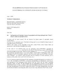 Certified Mail Letter Template Usa Cease And Desist Letter Re Copyright Infringement Legal