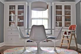 Built In Bookshelves With Window Seat Ikea Hemnes Hack Dining Room Built Ins Using Hemnes Cabinets And