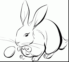 magnificent easter bunny coloring religious easter coloring