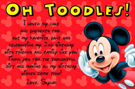mickey mouse thank you cards templates ideas u2014 anouk invitations