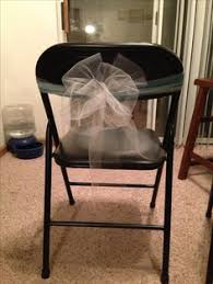 Used Folding Chairs For Sale Diy Tulle Chair Covers Could Hopefully Cover All Chairs For Under