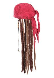 jack sparrow bandana and dreads set for adults