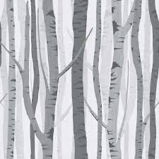 wilko trees wallpaper black grey wp332118 at wilko com new