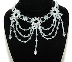 Crystal Chandelier Band Crystal Beaded Gothic Chandelier Necklace Crystal Forehead Band