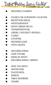 wedding vendors a detroit wedding vendor checklist