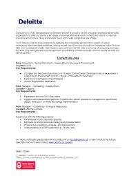 Resume For Consulting Jobs by Deloitte Canada Strategy U0026 Operations Jobs