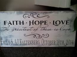 personalized wedding plaque personalized wedding gift corinthians sign customizable aftcra