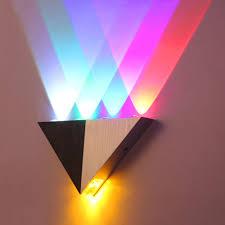 5w aluminum triangle led wall lamp ac90 265v high power led modern