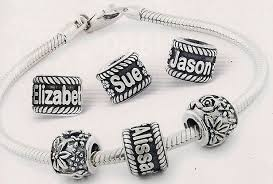 Name Charm Bracelet Sweet Earth Gifts Jewelry Engraving Beads Sycamore Illinois
