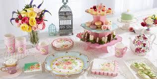tea party favors floral tea party supplies pastel floral tableware party city