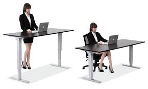 Sit Stand Office Desk Decorating Sit Stand Desks And Desk In Office Using Height