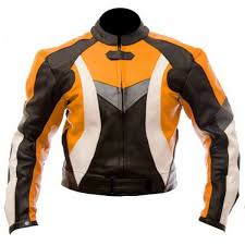 motorcycle racing jacket motorcycle racing men s orange black leather biker jacket