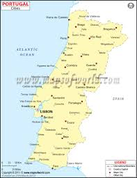 Map Of Spain With Cities by Cities In Portugal Portugal Cities Map