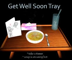 get well soon soup second marketplace get well soon tray chicken soup and card