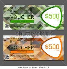 green gift voucher vector illustration gift voucher vector illustration card template stock vector