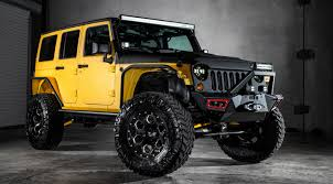 lifted jeep bandit jeep wrangler yellow jacket by starwood motors hiconsumption