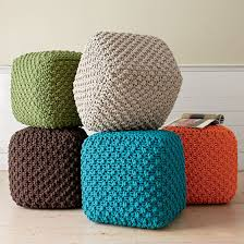 Knit Pouf Ottoman Pattern Square Poufs Foot Rests Or Casual Seating I This