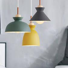Green Pendant Lights Nordic Metal Wood Ceiling Light Cafe Bar Dining Room Pendant Lamp