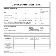 sample employee application 12 online job application form