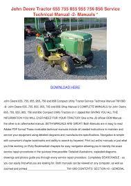 john deere tractor 655 755 855 955 756 856 se by cassie schlau issuu