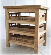 freestanding kitchen furniture reclaimed antique apple crate island unit from eastburn country