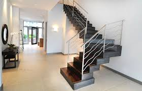 modern stair railing metal cool and modern stair railing