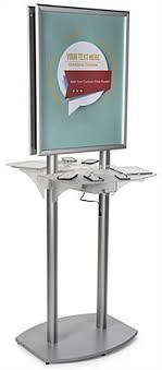 charging station shelf poster kiosk charging station double sided design