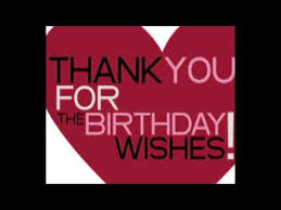 thank you for the birthday wishes to all my friends on book