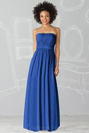 buy cheap ruched strapless natural waistline floor length royal