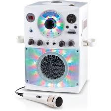 light up karaoke machine singing machine bluetooth karaoke system with led disco lights and