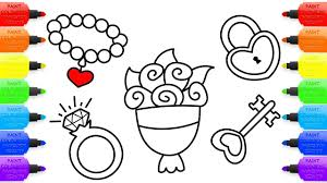 how to draw accessories for wedding coloring pages for baby art