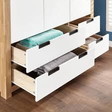 Passenden Schlafzimmer Mobel Wahlen Kleiderschrank Svendborg 3 Türig Eiche Weiss Kleiderschränke