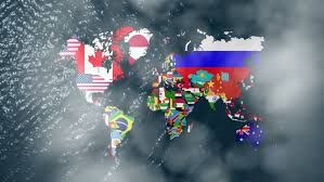 america map zoom 3d wide flag world map zoom to america with clouds stock