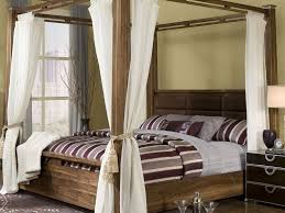 wood canopy bed styles modern wall sconces and bed ideas