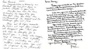 past presidential letters to incoming commander in chief abc7 com